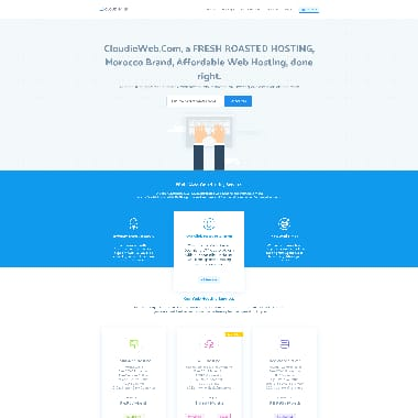 Cloudieweb HomePage Screenshot