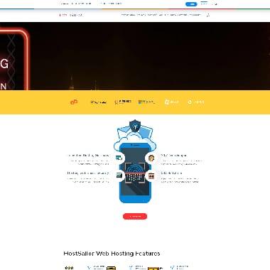 HostSailor HomePage Screenshot